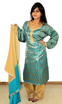 2 Tone Blue Exclusive silk salwar kameez dress Plus sizes up to 56 New arrivals
