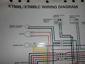 yamaha oem factory color wiring diagram schematic 1983 ... xt 600 wiring diagram #7