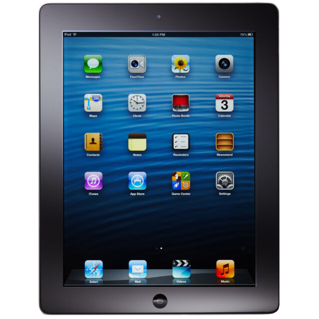 iPad 4th with Retina Display 16GB, Wi-Fi + 4G Cellular (Unlocked), BLACK