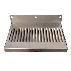 6-x-12-Stainless-Steel-Wall-Mount-Draft-Beer-Drip-Tray-Free-Shipping