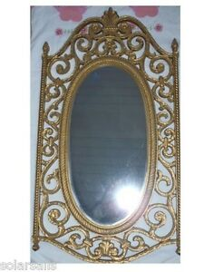 SYROCO-GOLD-WALL-HANGING-MIRROR-2316-MADE-IN-USA-1969-CLEAN-MINT-CONDITION