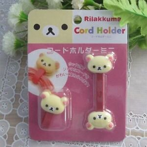 2pc-Cute-White-Bear-Wire-Cord-Holder-Cable-Organizer-4-Iphone-MP3-Earphone