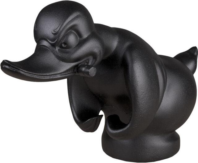 Flat Black Death Proof Duck Convoy Duck Hood Ornament Car Mascot Rat Rot Hot Rod
