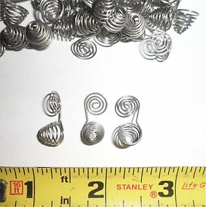 """10,000 ea - .346"""" OD x .312"""" Long - One-of-a-Kind Conical Springs - Chrome"""