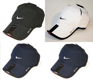 Nike 595510 Dri Fit Featherlight Swoosh Flex Cap Black