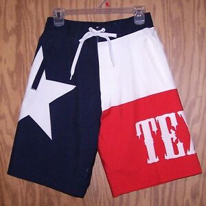 Texas-Flag-Board-Shorts-Lone-Star-Swimming-Trunks-size-X-Large