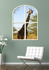 Stunning-GIRAFFE-GIANT-WINDOW-VIEW-PRINTED-POSTER