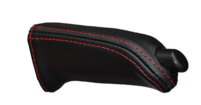 red stitch FITS BMW Z4 E85 03-11 HANDBRAKE HANDLE LEATHER COVER ONLY