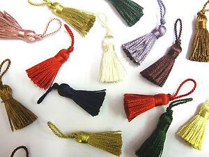 10-Mini-craft-tassels-Small-3-5cm-2cm-loop-long-decorative-Key-cushion-tassel