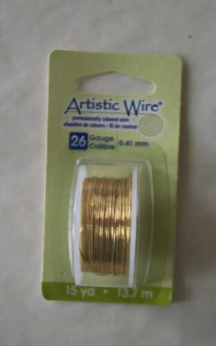 2 Packs Artistic Wire Permanently Colored Select Color and Gauge
