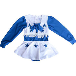 Image is loading NWT-Dallas-Cowboys-Girls-Cheerleader-Outfit-Dress-Halloween -  sc 1 st  eBay & NWT Dallas Cowboys Girls Cheerleader Outfit Dress Halloween Costume ...