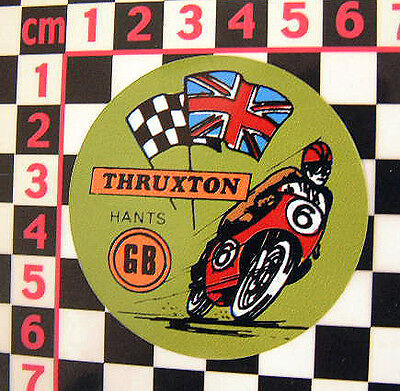 1960's Thruxton Sticker Norton Triumph BSA AJS Triton Cafe Racer Honda