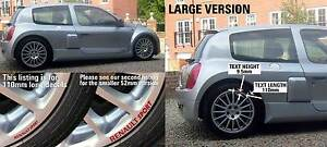 SupergraphicsF1 Wheel rim decal stickers fit Renault sport large 110mm long x1