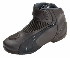 Image is loading Puma-Flat2-GTX-V2-Brown-Leather-Motorcycle-Boot- ac9c00dc053