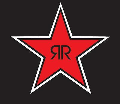 """(2) 5.5"""" ROCKSTAR ENERGY vinyl Decal sticker any size color surface car  S155"""