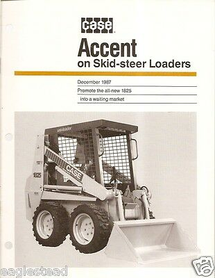 Equipment Brochure - Case - 1825 - Uni-Loader Skid-Steer - 1987 (EB498)