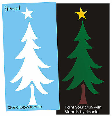 "Joanie Stencil Skinny Rall Rustic Winter 5"" Tree Lodge Cabin Mountain Decor Sign"