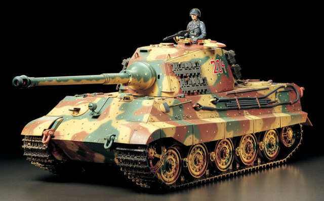 German King Tiger Ii Production Turret Full Option Kit Tamiya 1 16