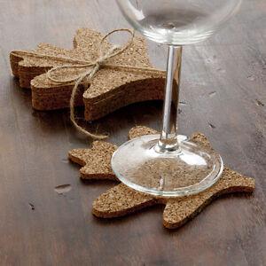 Design ideas arden oak leaf cork drink coasters set of 4 for Drink coaster ideas