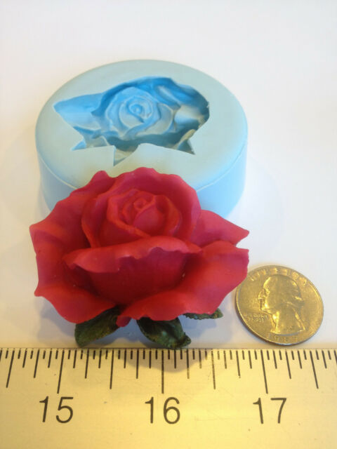 ROSE BUD SILICONE MOLD #125 VALENTINE DAY, CANDLE, SOAP, CRAFTS, KIDS, FAVORS