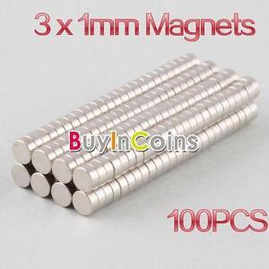 100Pcs-3mm-x-1mm-Disc-Rare-Earth-Neodymium-Strong-Magnets-N35-Craft-Models