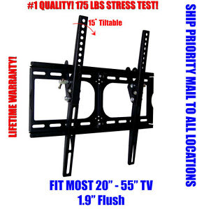 NEW-LCD-LED-PLASMA-FLAT-TILT-TV-WALL-MOUNT-20-26-30-32-37-42-46-50-52-55-BLACK
