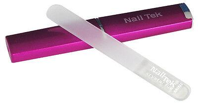 Nail Tek Mini Crystal File with Pink Case