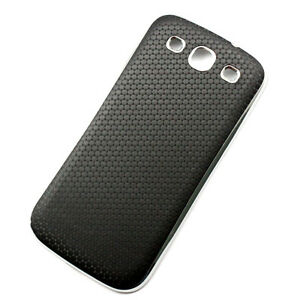 Black-Leather-stripe-Battery-Back-Door-Case-Fit-For-SAMSUNG-GALAXY-S3-III-i9300