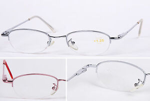 L49 Superb Quality Semi-Rimless Style Reading Glasses & Spring Hinges & Unisex