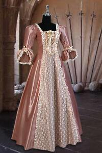 Renaissance-or-Victorian-Style-Dress-034-Charlotte-034-Gown-Handmade-Lace-Taffeta