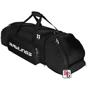 New-Rawlings-Duffel-Bat-Equipment-Bag-HYBRIDXL-Black