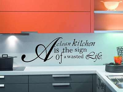 KITCHEN STENCIL COOL DECAL GRAPHICS QUOTE FUNNY WALL LARGE MURAL STICKER VINYL
