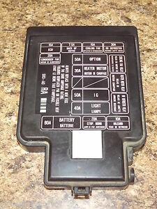 s l300 92 95 oem usdm honda civic sr3 eg eg6 eg9 ej1 engine bay fuse box 1995 honda civic fuse box at webbmarketing.co