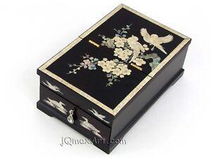 korean mother of pearl art jewelry box jb161006brown ebay