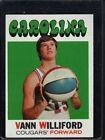 1971 Topps Vann Williford #229 Basketball Card