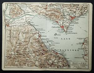 1908-Antica-Stampa-Topografica-PALLANZA-BAVENO-STRESA-LOMBARDIA-MI-ITALIA-MEYERS
