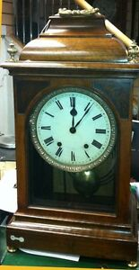 LOVELY-LARGE-SIZE-ANTIQUE-MAHOGANY-BRACKET-CLOCK