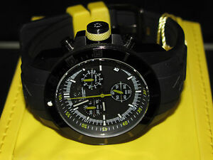 Invicta-Mens-11748-Pro-Diver-Red-Baron-Black-IP-Yellow-Accents-Chronograph-Watch