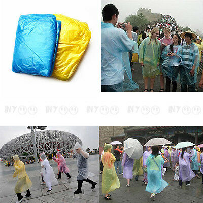 Disposable Raincoat Plastic for Travel Tourist Camping Hiking Outdoors Road Trip