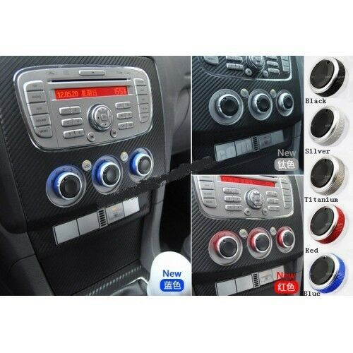 Car Air Conditioner Control Knobs Aluminum Panel Switch for Ford Focus 5 Colors