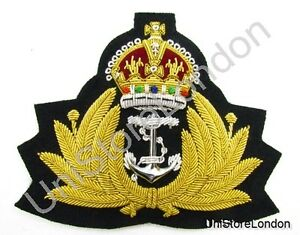 Badge-Naval-Kings-Crown-Gold-Wire-Royal-Navy-Cap-Badge-WW2-Style-WWII-R893
