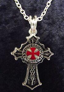Knights-Templar-Order-Cross-Medieval-Silver-Necklace