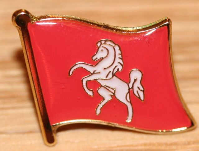 Kent England County Flag Enamel Pin Badge UK Great Britain