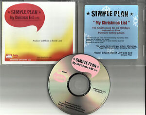 SIMPLE-PLAN-My-Christmas-List-2002-PROMO-RADIO-DJ-CD-single-PRCD-301042