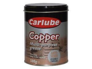 Carlube-Copper-Multi-Purpose-Grease-500g-XCG500-Anti-Seize-Assembly-Compound-Tin