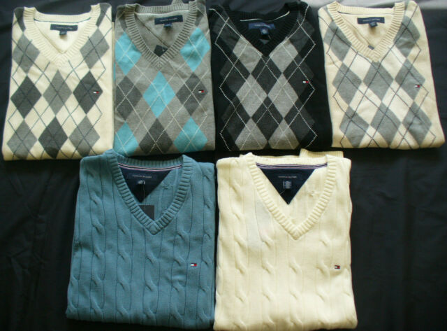 """NWT"" TOMMY HILFIGER  Mens ARGYLE Sleeveless VEST Sweater ( All Sizes)"
