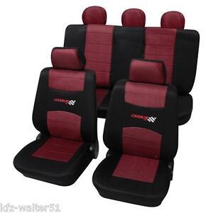 CITROEN-CX-Autositzbezuege-Sitzbezuege-Carbon-rot-schwarz