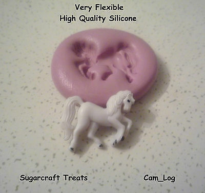 Princess Horse Silicone Mould, Sugarcraft, Cup Cake Decorating, Wax, Chocolate