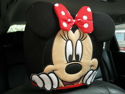 Minnie Mouse Disney Car SUV Accessory #Red : 1 piece Head Rest Head Seat Cover