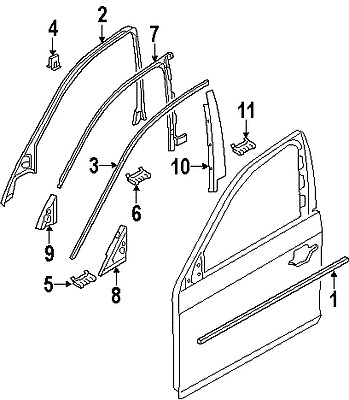 BMW 51217207260 GENUINE OEM FACTORY ORIGINAL BELT MOLDING